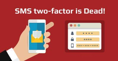 Scritta sms two factor is dead